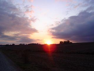Lever de soleil à Villamayor